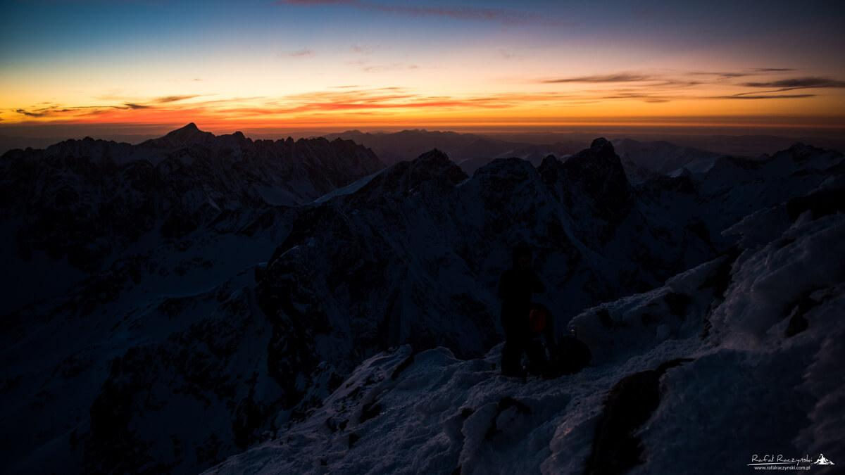 Zachód Słońca z Rysów